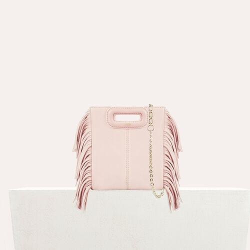 M-Minitasche aus Veloursleder : M Tasche farbe Fleisch