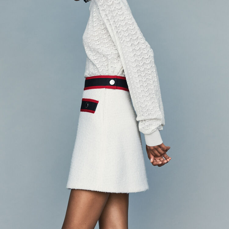 Kurzer Tweed-Rock : Röcke & Shorts farbe Ecru