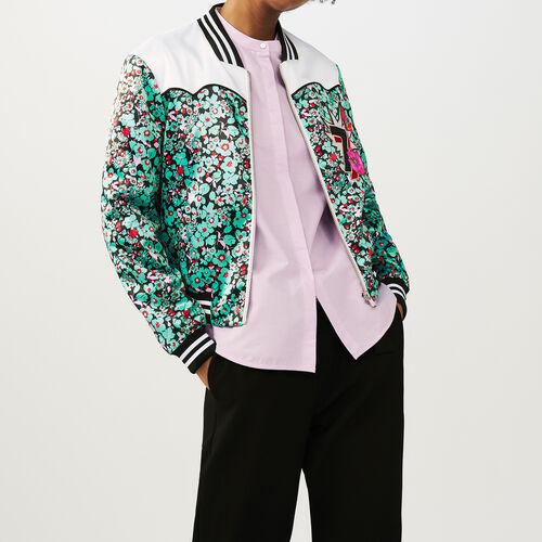 Mehrfarbige Bomberjacke mit floralem : Jacken farbe IMPRIME