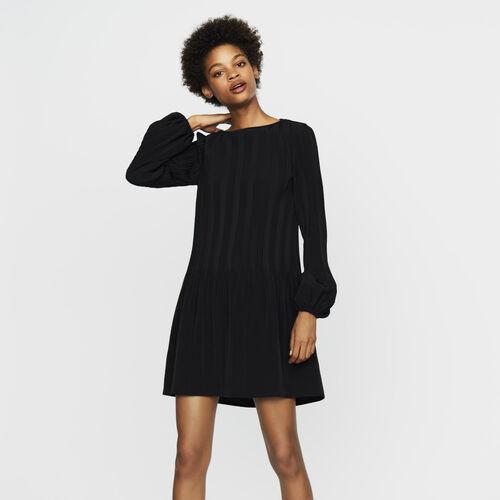 Plissiertes Kleid : Neue Kollektion farbe Schwarz