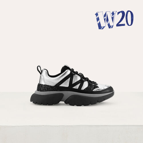 W20 Urban Ledersneakers : Sneakers farbe Silber