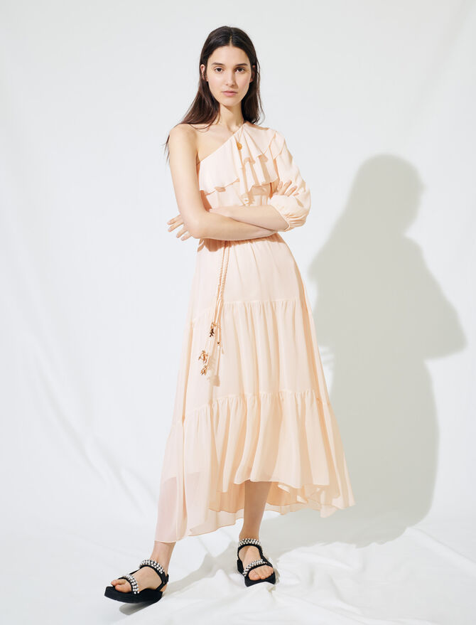 Asymmetrical muslin dress - Kleider - MAJE