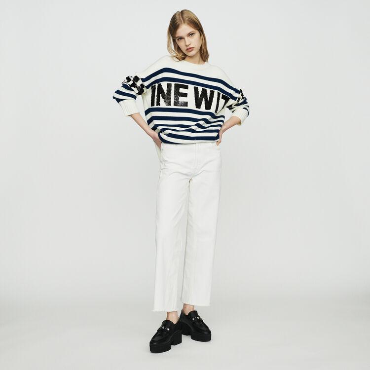 Pullover mit Bretonstreifen : Pullover & Strickjacken farbe ECRU