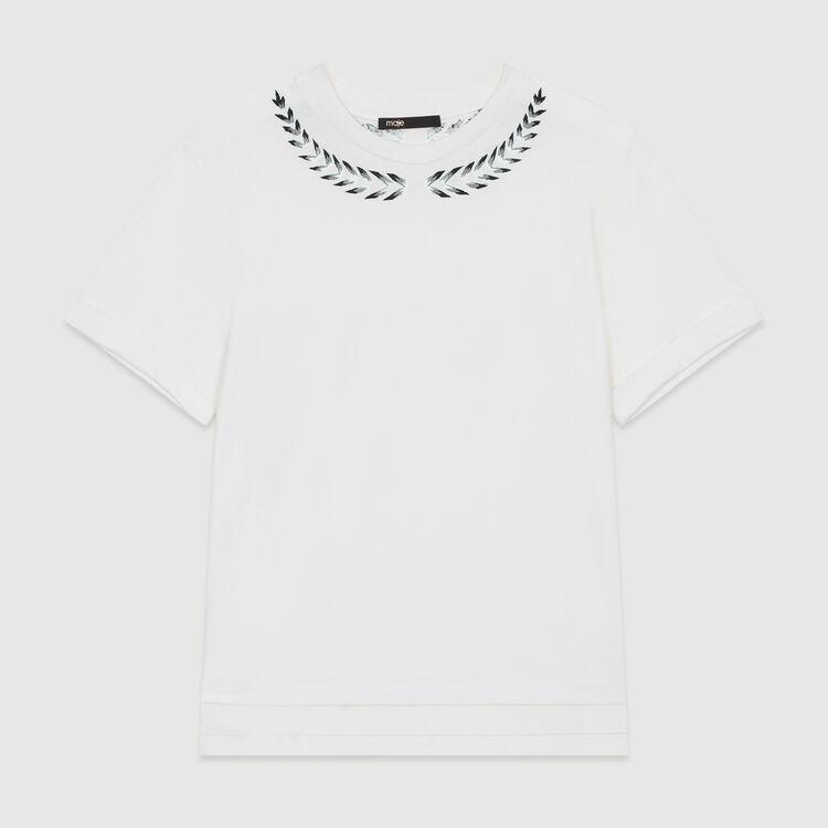 Fleece-Sweatshirt mit Perlen : T-Shirts farbe ECRU