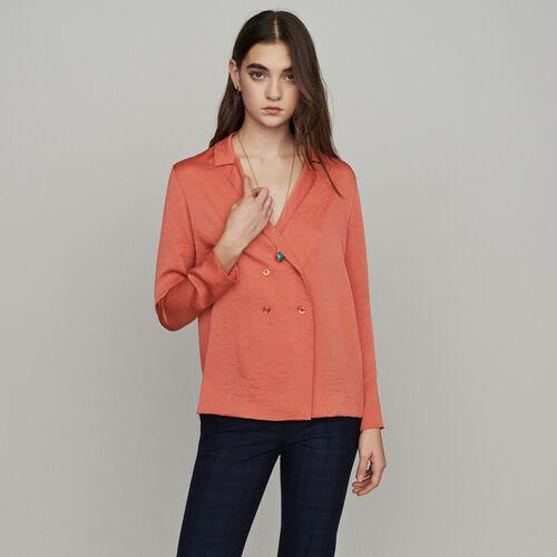 Hemdbluse : Tops & Hemden farbe Koralle