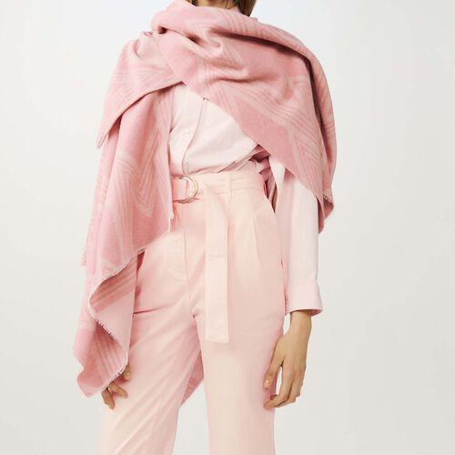 Poncho bedruckt mit M : Schals & Ponchos farbe Rosa