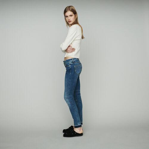 Slim Jeans aus Stretch-Baumwolle : Jeans farbe Denim