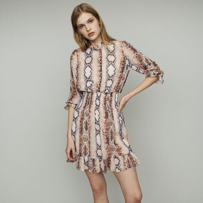 Kleid mit Python Print : Kleider farbe Print