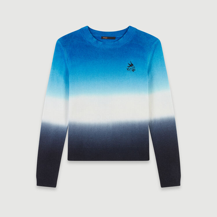 Degradierter bunter Pullover : Pullover & Strickjacken farbe BLEU AZUR