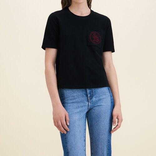 T-Shirt aus Baumwolle : T-shirts farbe Schwarz