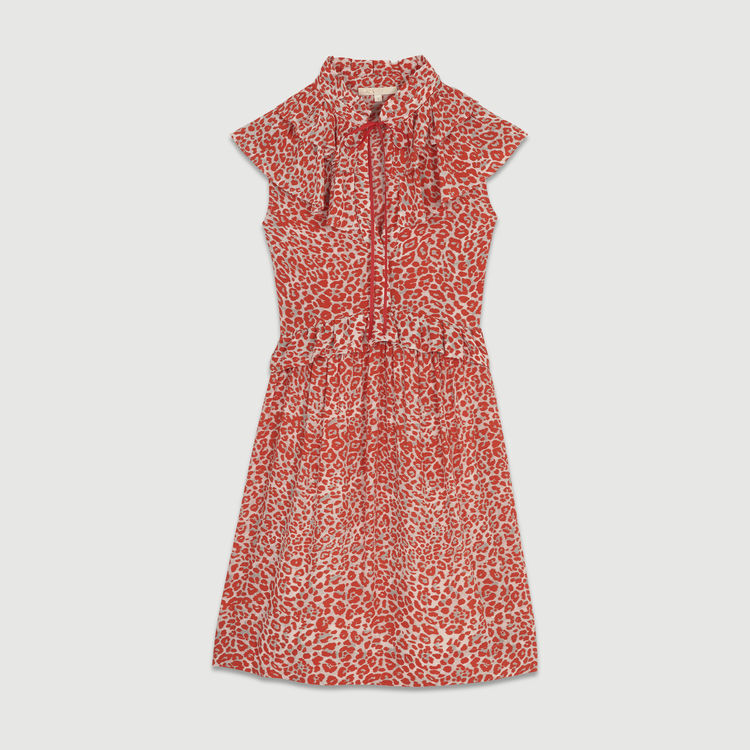 Ärmelloses Kleid mit Leoparden-Print : Kleider farbe IMPRIME