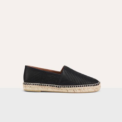 Espadrilles aus leder mit stickereien : Schuhe farbe Schwarz