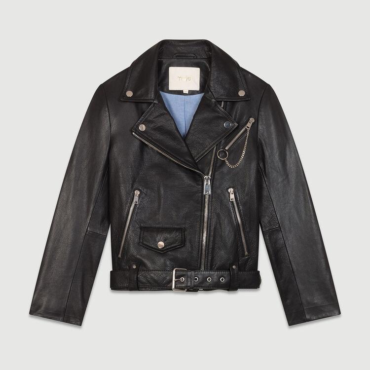 Lederjacke Typ Biker : Jacken farbe Schwarz