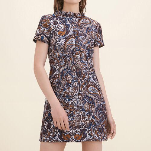 Gerade geschnittenes Jacquardkleid : Kleider farbe Jacquard