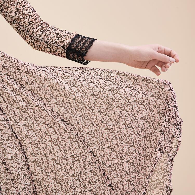 Langes Kleid mit Print - Dernières tailles - MAJE