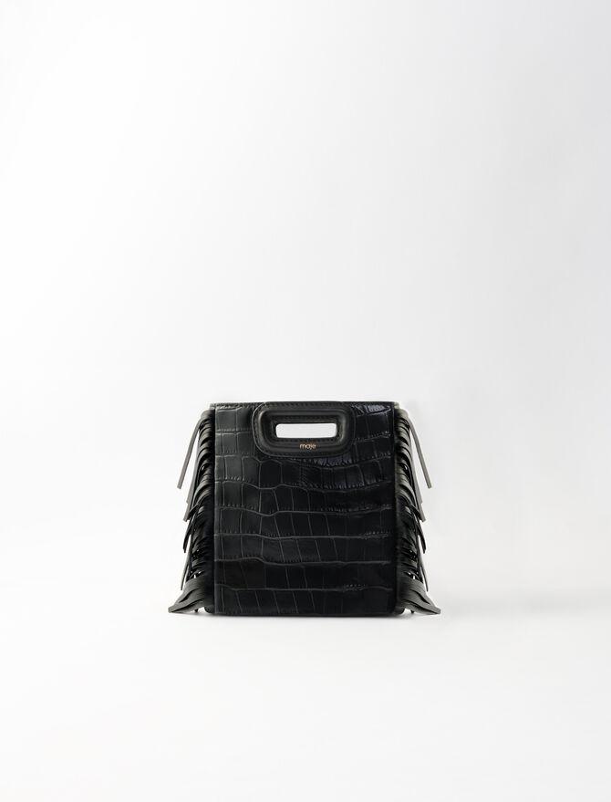 M Mini-Tasche aus Leder im Krokodil-Stil -  - MAJE