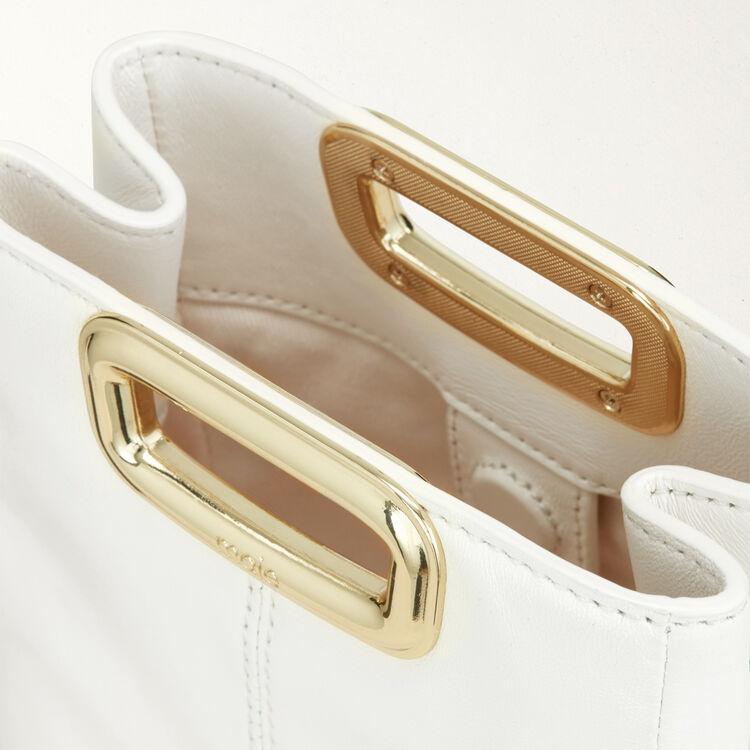 M Mini Skin Clutch aus Leder : M Skin farbe Weiss