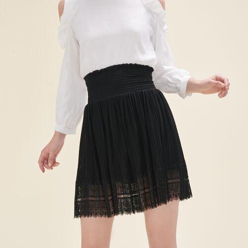 Plisseerock mit Plumetis und Spitze - Röcke & Shorts - MAJE