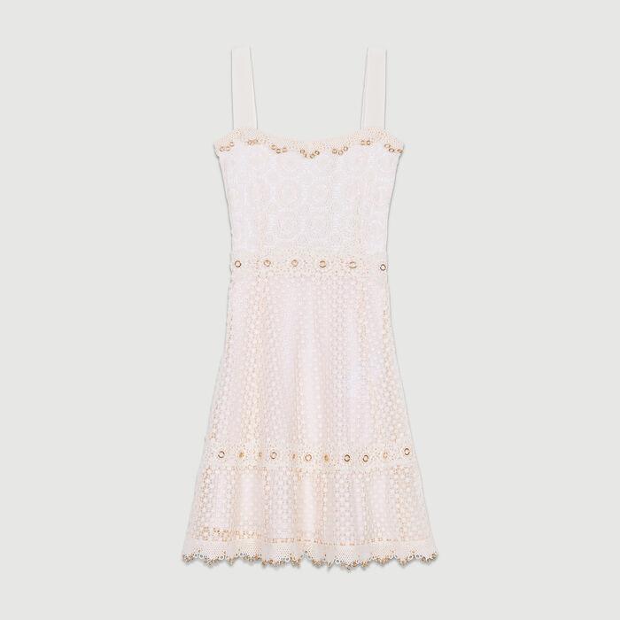 Kleid mit Spitzenträgern : Kleider farbe Rosa