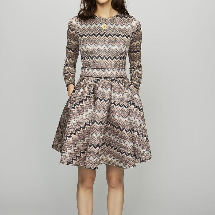 Skaterkleid aus edlem Strick : Kleider farbe ECRU