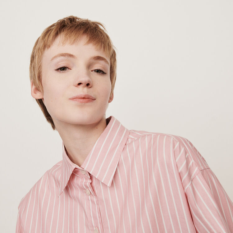 Oversize Hemd mit Streifen : Tops & Hemden farbe Rosa