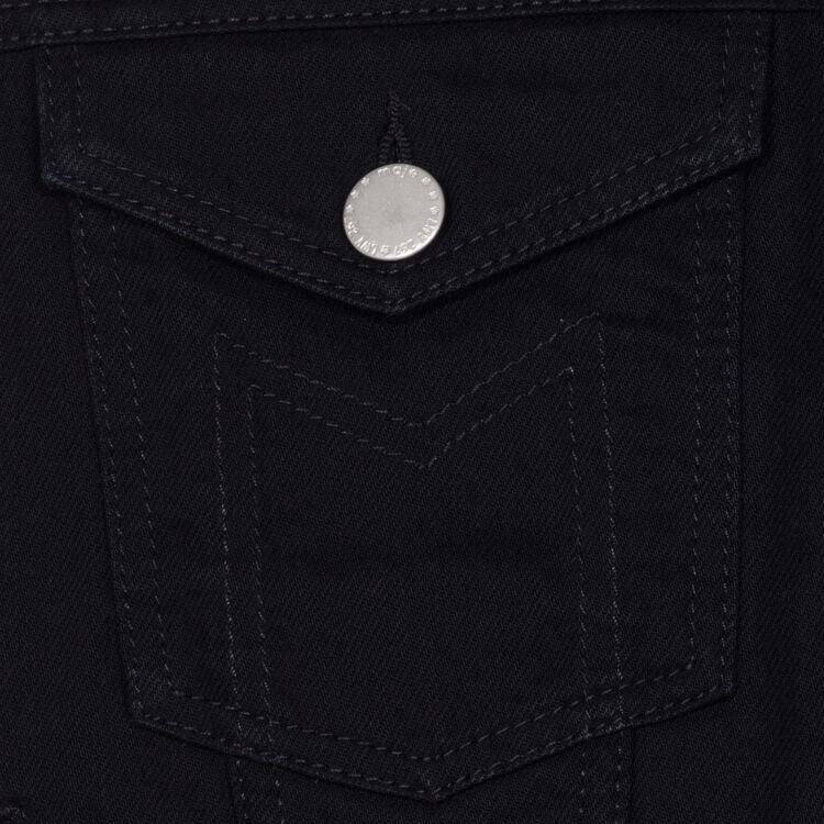 Ärmellose Jeansjacke : Jacken farbe Schwarz