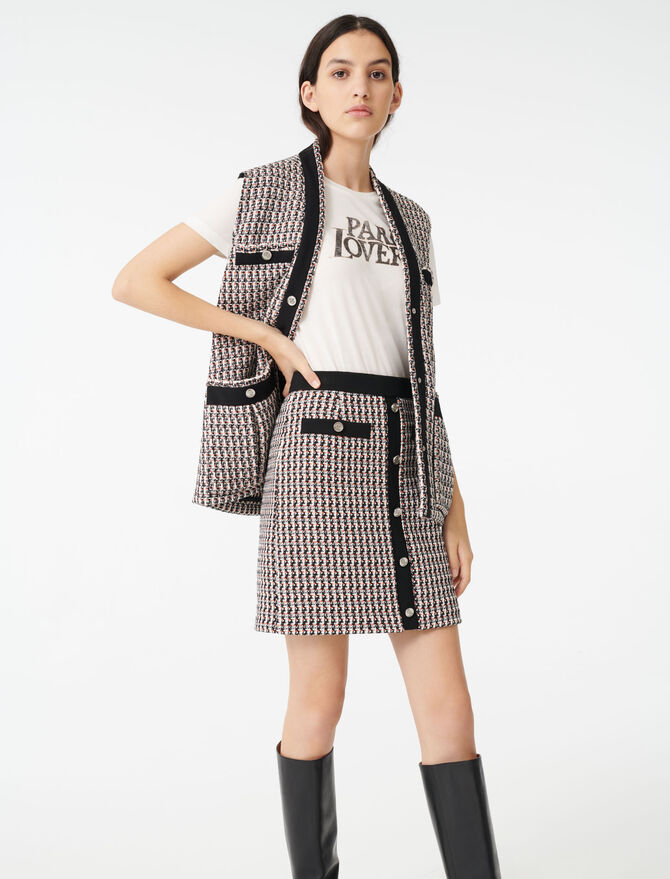 Rock im Tweed-Stil mit Lurex - Röcke & Shorts - MAJE