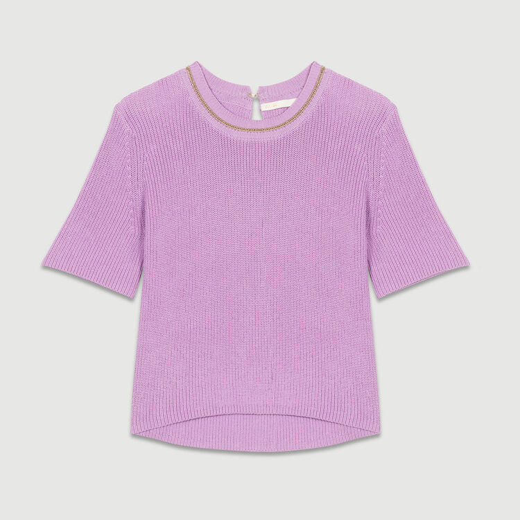 3/4 sleeve jumper : Strickwaren farbe LILAS