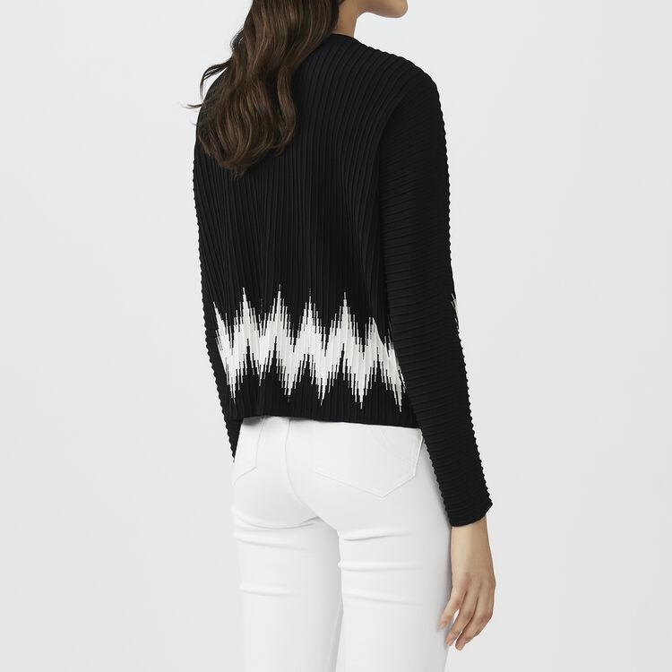 Oversize-Pullover aus Mischseide : Strickwaren farbe Schwarz