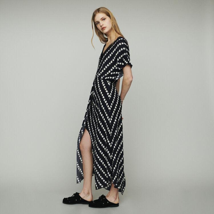 Langes Kleid mit Margeriten-Print : Kleider farbe IMPRIME