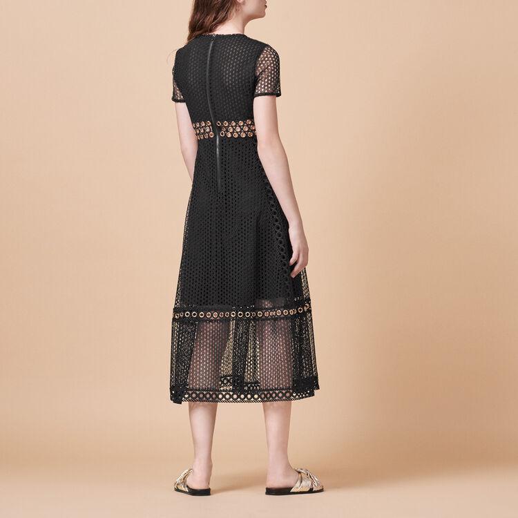 Langes Kleid mit Stickereien - Kleider - MAJE