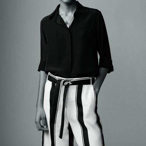 Silk shirt : Hemden farbe Schwarz