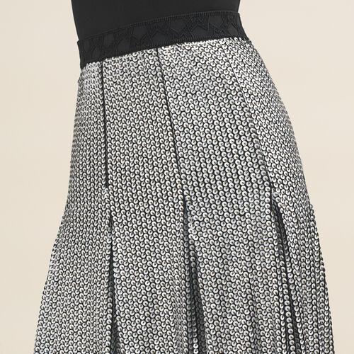Midirock mit Pailletten : Jupes & Shorts farbe Silber