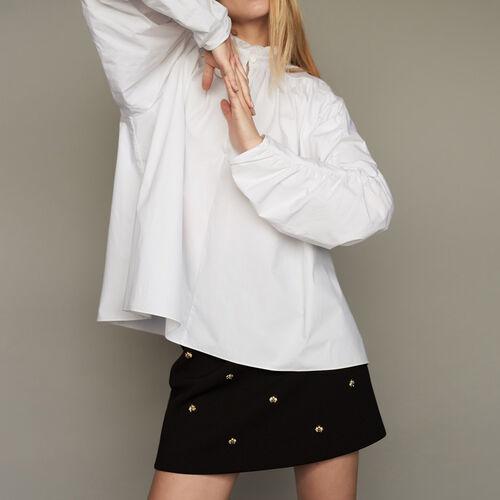 Oversize-Bluse mit Raffung - Pre-Kollektion - MAJE