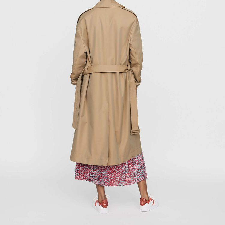 Stoff-Trenchcoat : Bekleidung farbe Beige