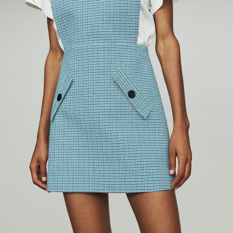 Tunika-Kleid aus Leinen Natte : Kleider farbe Blau