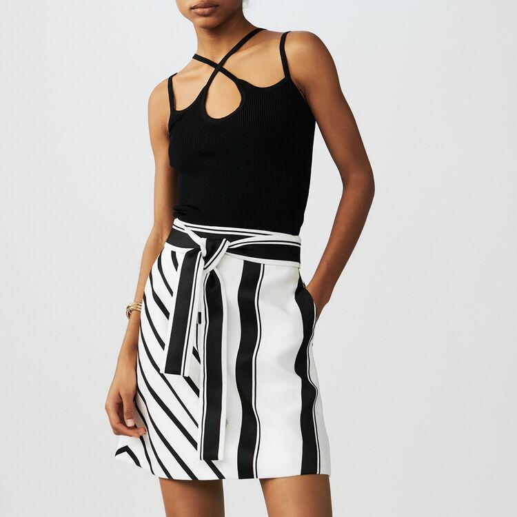 Gestreifter Trapezrock : Röcke & Shorts farbe Gestreift