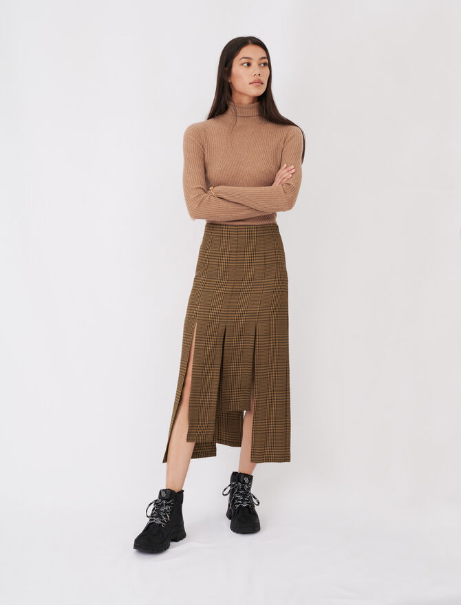 Asymmetrischer Karorock mit Zipfeln - Röcke & Shorts - MAJE