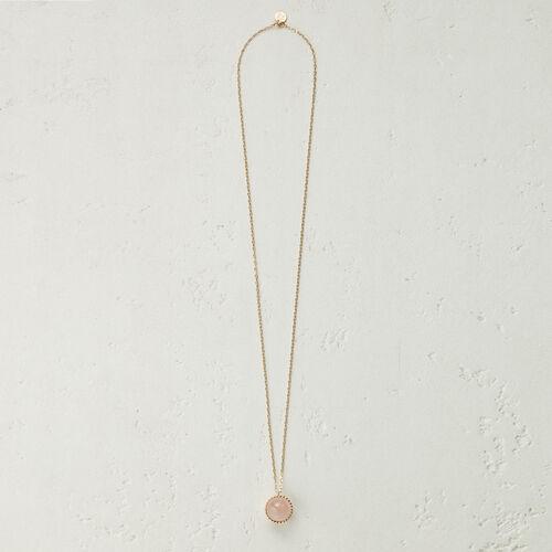 Halskette mit Natursteinkugel -  - MAJE