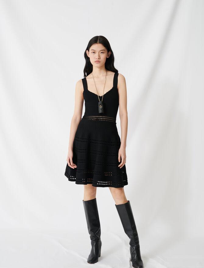 Skaterkleid aus Ajour-Strick - Kleider - MAJE