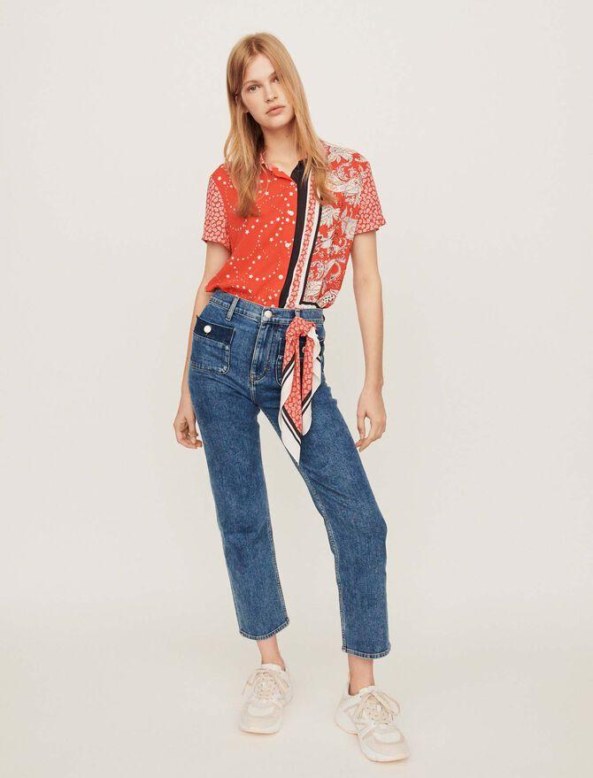 Ausgewaschene 7/8 Jeans - Hosen & Jeans - MAJE