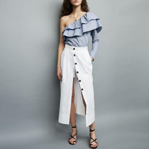 Langes Kleid mit Stickereien : Alles einsehen farbe Weiss
