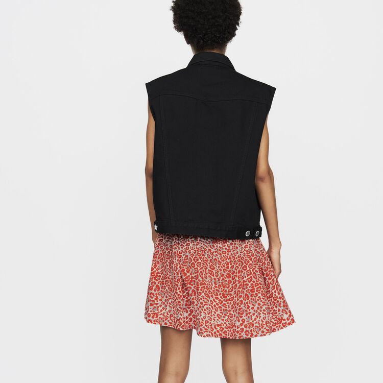 Ärmellose Jeansjacke : Bekleidung farbe Schwarz