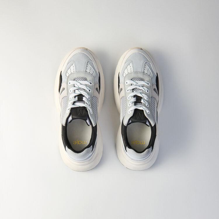 W20 Leder Sneaker : Sneakers farbe Grau