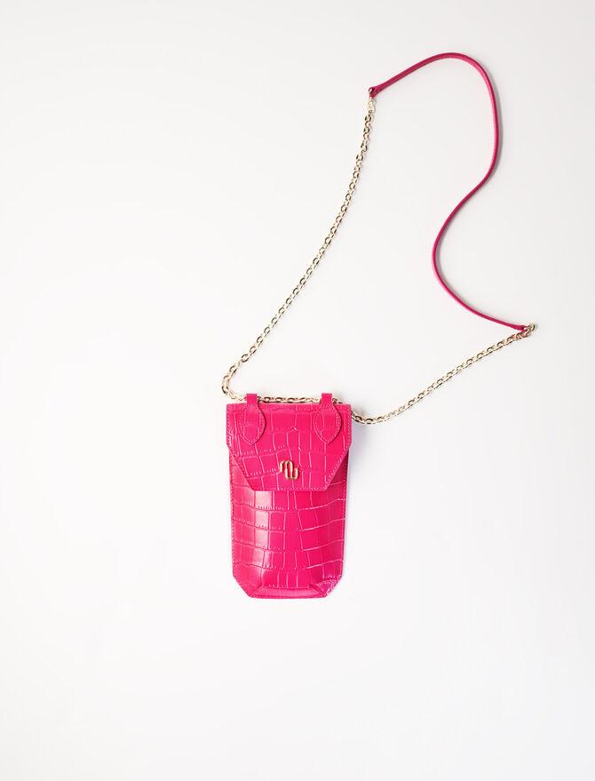 Telefontasche in Kroko-Optik -  - MAJE