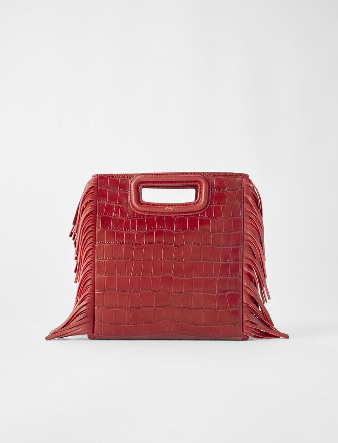 M Tasche aus gekämmten Leder - M Tasche - MAJE