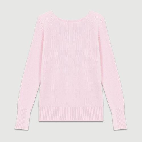 Pullover mit gekreuzten Streifen : Strickwaren farbe LILA