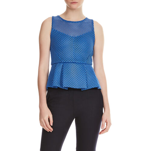 Top in technical knit : Tops farbe Blau