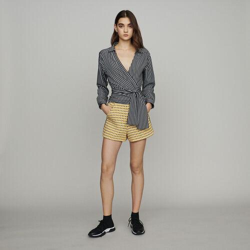 Gestreiftes Top mit Umschlag : Tops & Hemden farbe Gestreift