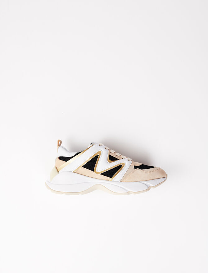 Sneakers W22 im Materialmix - Sneakers - MAJE